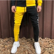 Lovely Sportswear Patchwork Yellow Pants