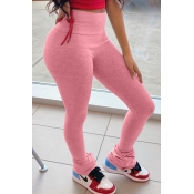 Lovely Casual Skinny Pink Pants