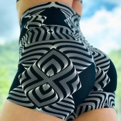 Lovely Sportswear Print Black Shorts