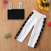 Lovely Stylish Buttons Design Black And White Girl
