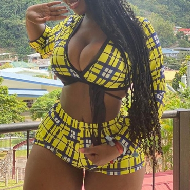 Lovely Trendy Grid Yellow Plus Size Two-piece Shorts Set