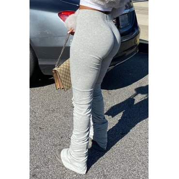 Lovely Stylish Basic Skinny Grey Pants