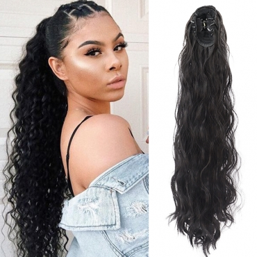 Lovely Trendy Long Curly Black Wigs