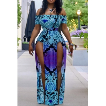 Lovely Print Blue One-piece Swimsuit