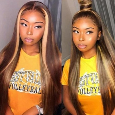 Lovely Trendy Long Brown Wigs