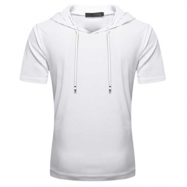 Lovely Sportswear Hooded Collar White T-shirt