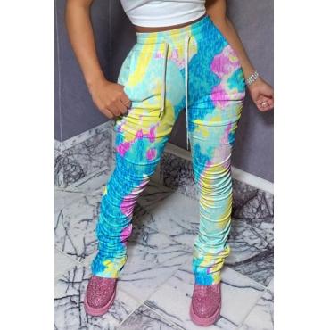 Lovely Trendy Print Multicolor Pants
