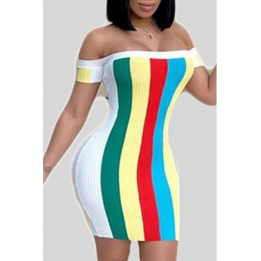 Lovely Leisure Striped Multicolor Mini Dress