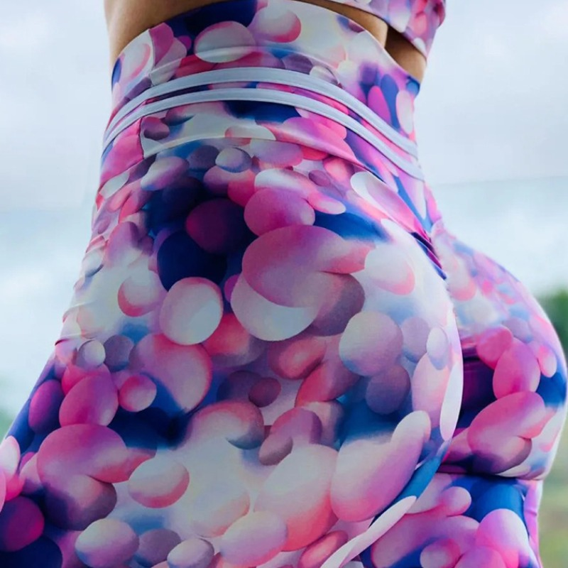 Lovely Sportswear Print Multicolor Plus SizePants