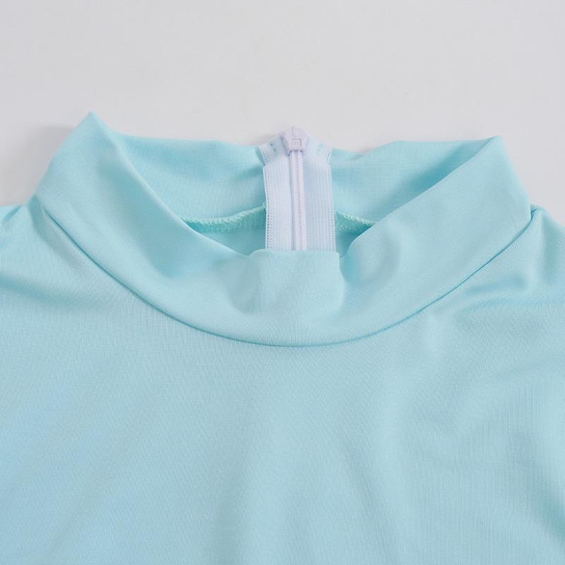 Lovely Sportswear Skinny Baby Blue One-piece Romper