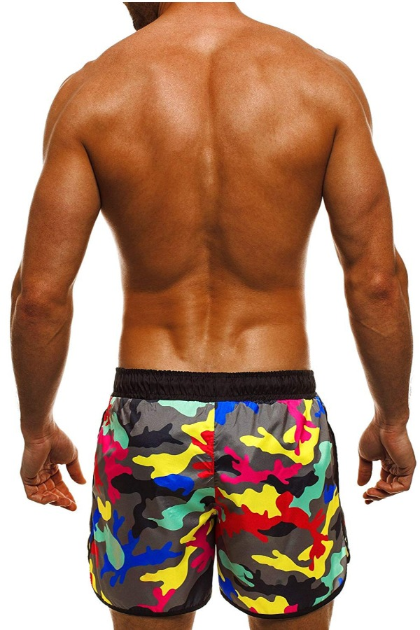 Lovely Casual Camo Print Yellow Shorts