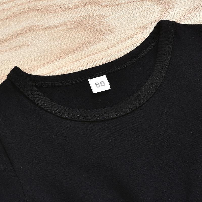 Lovely Sportswear Letter Black Girl Two-piece Shorts Set