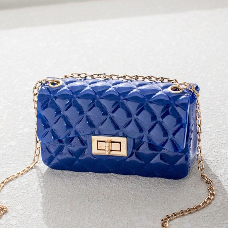 Lovely Chic Basic Blue Messenger Bag