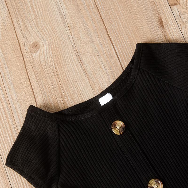 Lovely Trendy Print Black Girl Two-piece Shorts Set