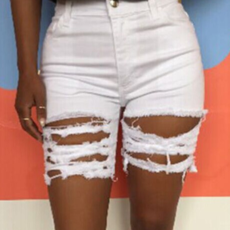 lovely Stylish Hollow-out White Shorts