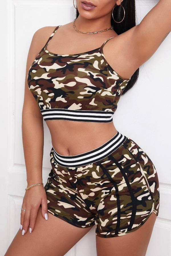 Lovely Sportswear Camo Print Army GreenLoungewear фото