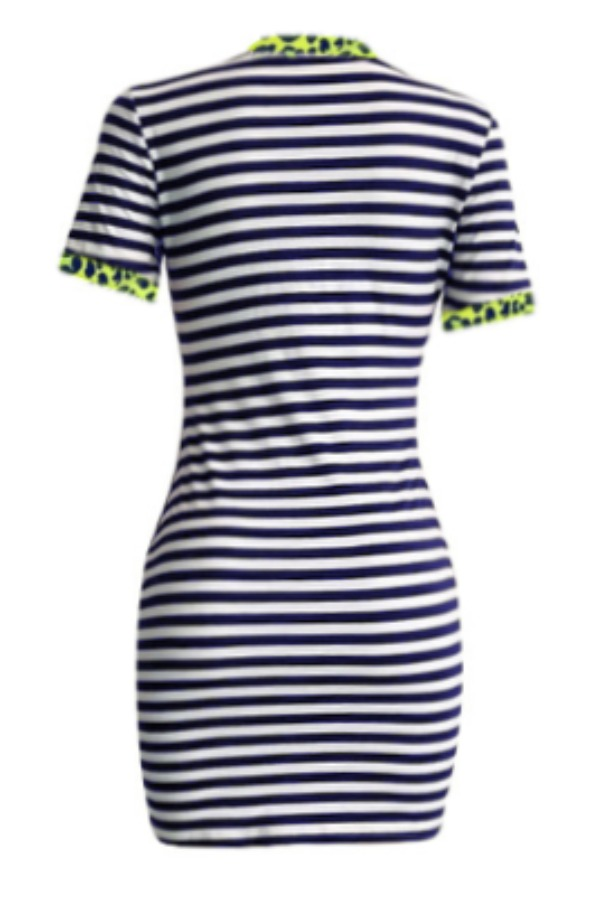 Lovely Casual Striped Black Mini Dress