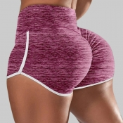 Lovely Sportswear Patchwork Pink Plus Size Shorts