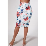 Lovely Trendy Print Multicolor Skirt