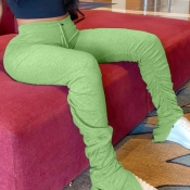 Lovely Stylish Basic Skinny Green Plus Size Pants