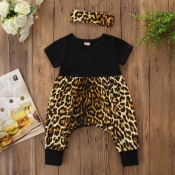 Lovely Stylish Print Black Girl One-piece Jumpsuit