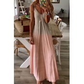 Lovely Casual Gradual Change Pink Ankle Length Dre