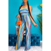 lovely Leisure Tie-dye Multicolor Plus Size One-pi