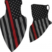 Lovely Sportswear Striped Print Black Face Mask