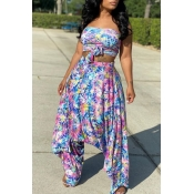 lovely Trendy Floral Print Multicolor Plus Size Tw
