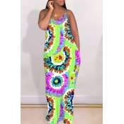 lovely Bohemian Tie-dye Multicolor Maxi Dress