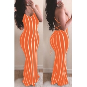 lovely Sexy Striped Croci Maxi Dress
