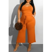 lovely Leisure Lace-up Croci Plus Size One-piece J
