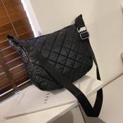 lovely Stylish Basic Black Messenger Bag
