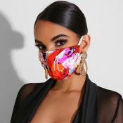lovely Casual Print Dustproof Rose Face Protection