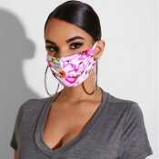 lovely Casual Print Dustproof Light Pink Face Prot