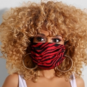 lovely Casual Print Dustproof Red Face Protection