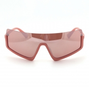lovely Chic Big Frame Design Pink Sunglasses
