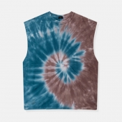 lovely Casual Tie-dye Blue Camisole