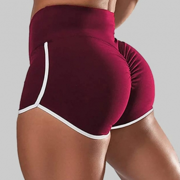 Lovely Sportswear Patchwork Red Shorts