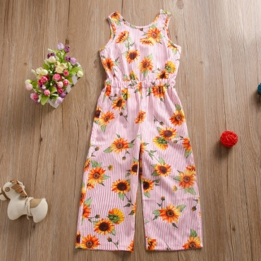 Lovely Trendy Print Pink Grid One-piece Jumpsuit