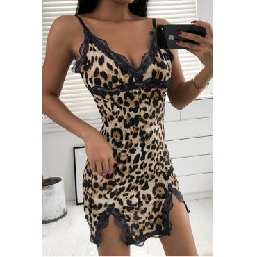 Lovely Sexy Leopard Print Babydolls