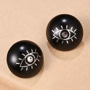 Lovely Trendy Eye Black Earring
