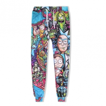 Lovely Leisure Cartoon Print Multicolor Pants