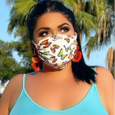 Lovely Casual Print Multicolor Face Mask