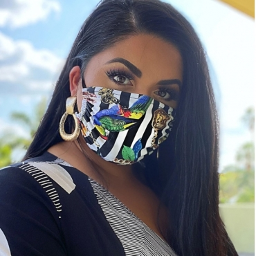 Lovely Casual Striped Print Black Face Mask