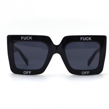 lovely Trendy Letter Black Sunglasses