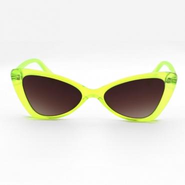 lovely Trendy Cat s Eye Frame Design Yellow Sunglasses