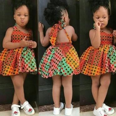 lovely Bohemian Print Mlticolor Girl Mini Dress