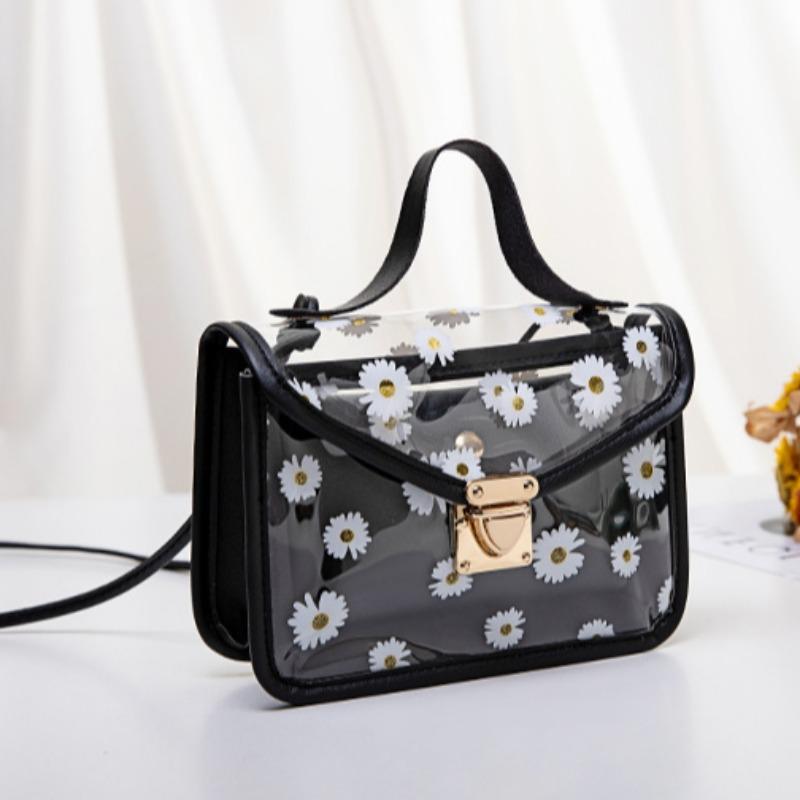 Messenger Bag&Crossbody Bag lovely Leisure Print See-through Black Messenger Bag фото