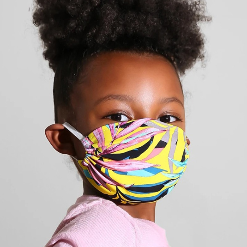 Lovely Print Yellow Face Mask фото